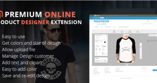 Magento product designer extension