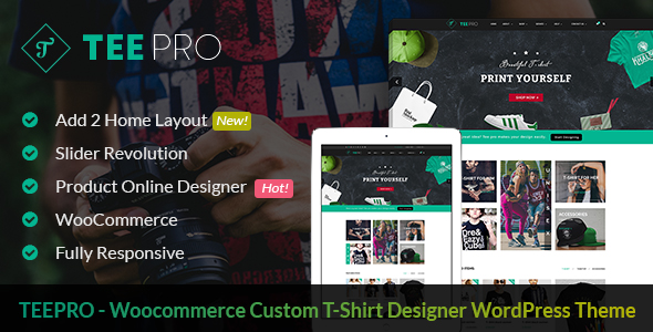 T shirt WordPress Theme